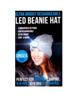 Unisex Beanie Hat with LED Headlight Torch Rechargeable Assorted Colors