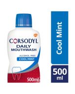 Corsodyl Daily Gum Care Fluoride Mouthwash Cool Mint 500ml