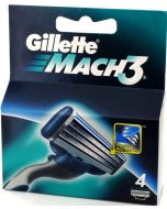 Gillette Mach 3 Razor Blades 4 Cartridges