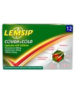Lemsip Cough and Cold Capsules with Caffeine- 12