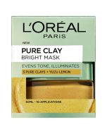 L'Oreal Paris 3 Pure Clays and Yuzu Lemon Bright Mask 50ml