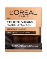 L'Oreal Paris Smooth Sugar Wake-Up Coffee Face and Lip Scrub 50ml