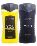 Lynx You and Clean Fresh 250ml Shower Gel Twin Pack