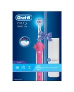 Oral-B Pro 2500 Pink Rechargeable Electric Toothbrush with Bonus Travel Case