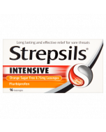 Strepsils Intensive Orange Sugar Free 8.75mg Lozenges Flurbiprofen 16 Lozenges