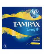 Tampax Compak Regular Applicator Tampons 18 Pack