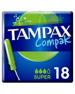 Tampax Compak Super Applicator Tampons 18 Pack