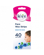 Veet 40 Wax Strips Face Sensitive Skin