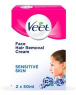 Veet Face Hair Removal Cream 2 x 50ml Front