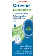 Otrivine Decongestant, Mucus Relief 0.1% Nasal Spray, 10ml