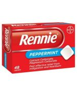 Rennie Peppermint Tablets - 48 Tablets