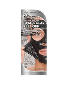 7th Heaven Men's Activated Charcoal Black Clay Peel Off