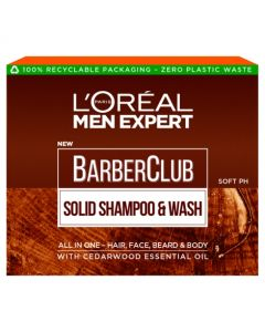 L'Oreal Men Expert Barber Club Solid Shampoo and Wash Bar for Hair, Face, Beard and Body 80g