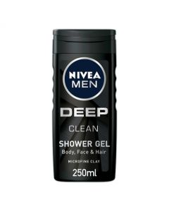 NIVEA MEN Shower Gel Active Clean with Charcoal 250ml