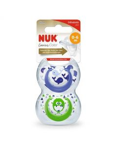 Nuk Genius Silicone Design Soother - Boys (0-6 Months)