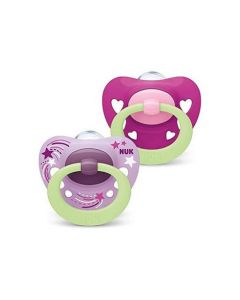 Nuk Signature Glow In The Dark Soother Size 1 Girl