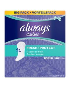 Always Dailies Fresh And Protect Normal Panty Liners 60