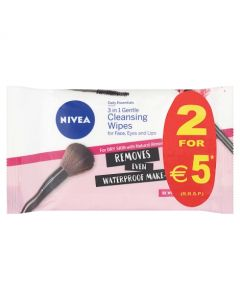 Nivea Daily Essentials 3 in 1 Gentle Cleansing Wipes 2 x 25 Wipes