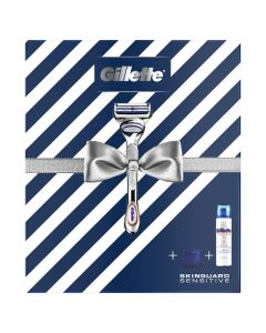 Gillette Gift Set SkinGuard Razor + Shaving Gel + Travel Cover