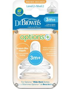 Dr Brown Level 2 Teats Twin Pack