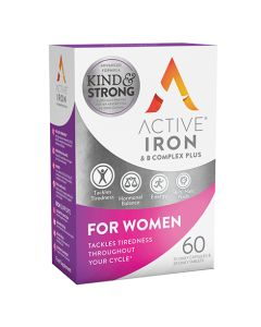 Active Iron & B Complex Plus for Women 30 Daily Capsules & 30 Daily Tablets
