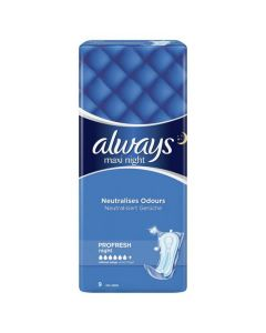 Always Maxi Night Sanitary Towels Pro fresh 9's