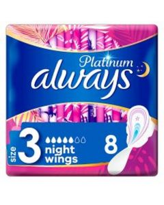 Always Platinum Night's With Wings 8's - Size 3