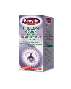 Benylin Phlegm Cough Plus Decongestant Syrup 100ml