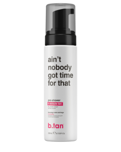 b.tan ain't nobody got time for dat! pre shower mousse (9 minute tan)