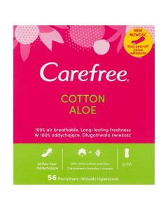 Carefree Cotton Aloe Pantyliners 56s