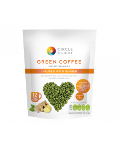 Circle Of Light Green Coffee Granules Infused With Ginger