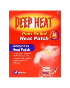 Deep Heat Patches-4 pack