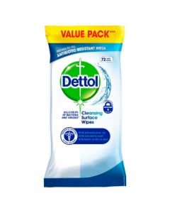 Dettol Surface Cleanser Wipes 72s