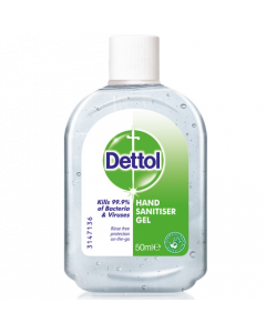Dettol Hand Sanitiser Gel 50ml Screw Top