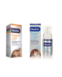 Hedrin Treat and Go Mousse + Protect and Go Spray Dual Pack