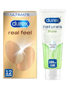 Durex Real Feel And Naturals Gel Bundle