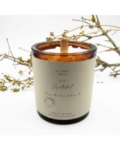 EAU Lovely Dublin So Grateful Soy Wax Candle With Moonstone Gemstones