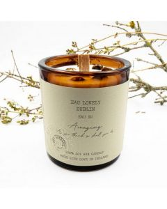 EAU Lovely Dublin Amazing Soy Wax Candle With Moss Agate Gemstones