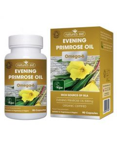 Natures Aid Organic Evening Primrose Oil 90 Capsules Box and bottle