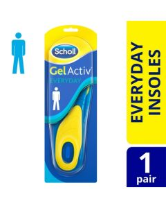 Scholl Men's Gel Activ Everyday Insoles, One Size