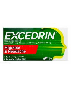 Excedrin Migraine and Headache Tablets 20s