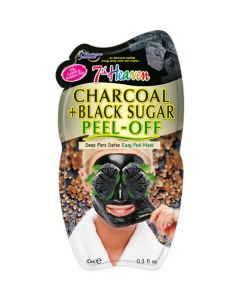 7TH Heaven Charcoal And Black Sugar Peel Off Face Mask