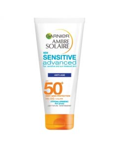 Garnier Ambre Solaire Sensitive Advanced Anti Age Face Sun Cream SPF50+ 100ml Tube