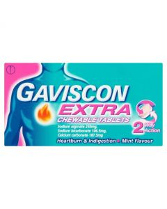 Gaviscon Extra Mint Flavour Chewable Tablets 24 Tablets