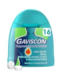 Gaviscon Peppermint Chewable Tablets