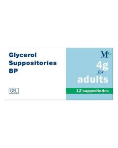 Glycerol 4g Suppositories for Adults 12 Pack