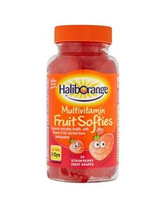 HalibOrange Kids Multivitamin Fruit Softies - Strawberry (30)