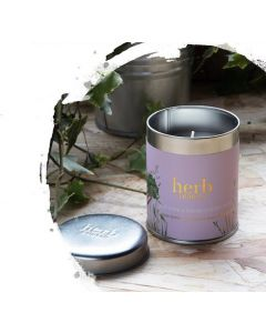 Herb Dublin Rhubarb Candle-Tin Tall