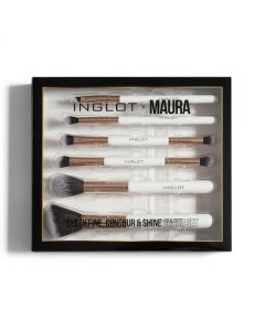 Inglot X Maura Eyes, Define, Contour & Shine 6 Piece Brush Set