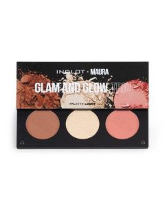 Inglot Maura Collection Glam & Glow Trio Light Palette